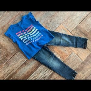 """Nwt Gymboree girls """"wave of kindness"""" tee w/jeans"""